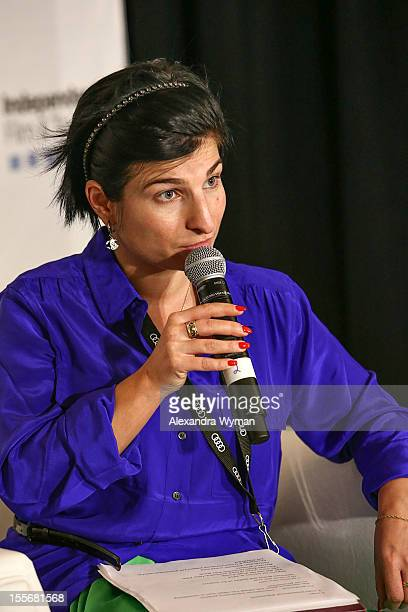 Head of Inernational Department Russian Cinema Fund Elena Romanova speaks at International Production Incentives at the Loews Santa Monica Beach...