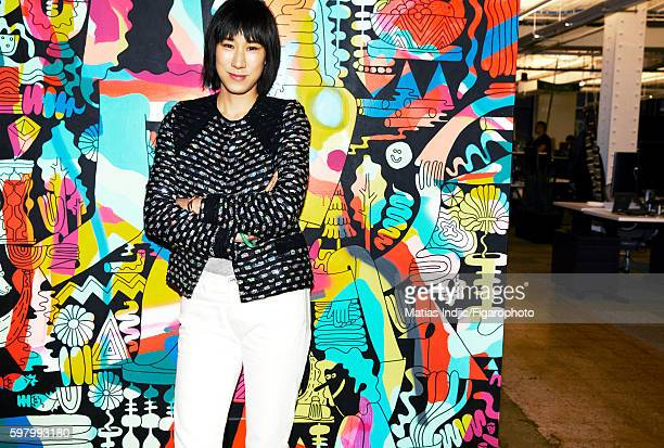 Head of Instagram's Fashion Partnerships, Eva Chen is photographed for Madame Figaro on February 18, 2016 in New York City. PUBLISHED IMAGE. CREDIT...