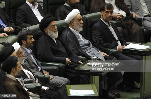 Head of Iran's Guardians Council Ahmad Jannati Iranian President Mahmoud Ahmadinejad judiciary chief Mahmoud Hashemi Shahroudi chief of staff for...