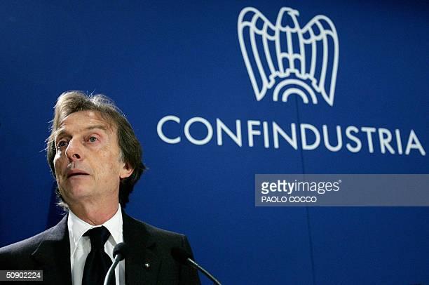 Head of Italian carmaker Ferrari, Luca Cordero di Montezemolo, adresses Italian industrials after being appointed president of the 'Confindustria',...