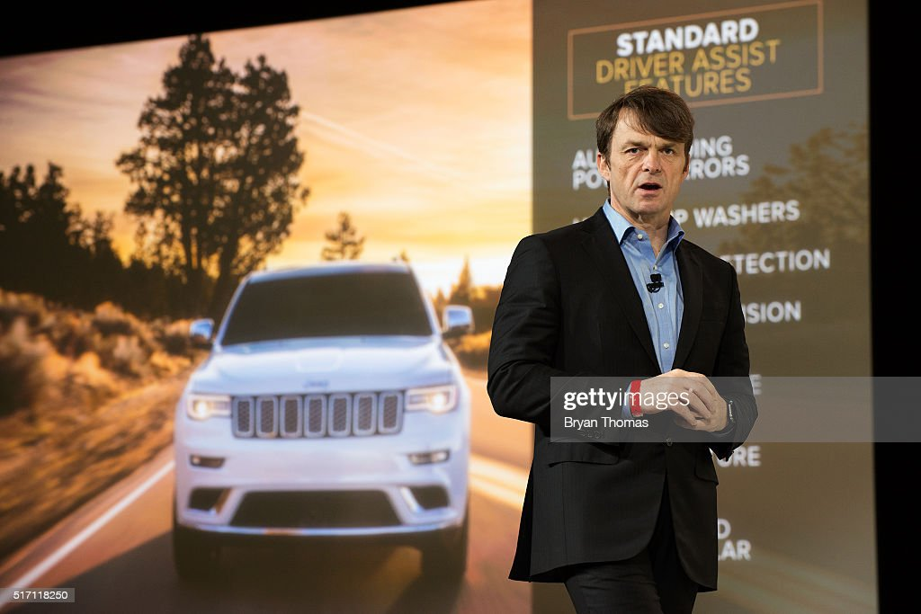 Head of Jeep Brand Mike Manley introduces the Summit version of the Jeep Grand Cherokee at the New York International Auto Show at the Javits Center on March 23, 2016 in New York City. Manley introduced the Summit, a model built for luxury, as well as the Trailhawk, a model built for off-road use.