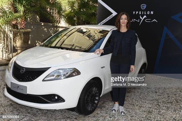 Head of Lancia Emea Antonella Bruno attends Ypsilon Unyca Libera Il Tuo Stile Press Conference on March 2 2017 in Milan Italy