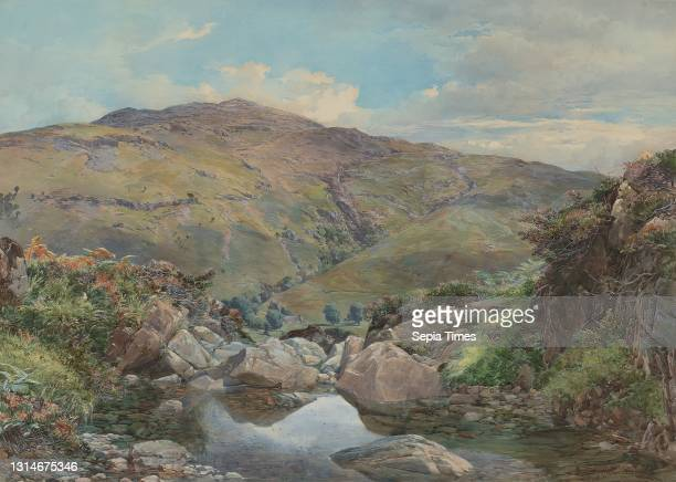Head of Loch Lomond, with Ben Lomond in the Distance, Paul Jacob Naftel, 1817–1891, British Watercolor and gouache on moderately textured, cream wove...