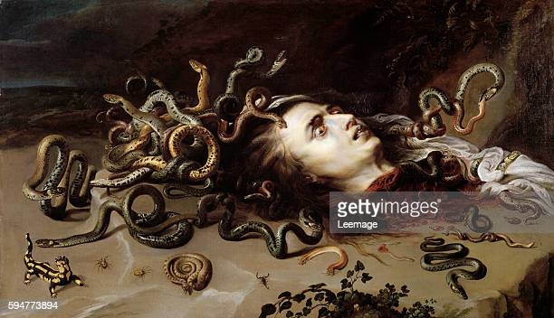 Head of Medusa - Painting by Pierre Paul Rubens , oil on canvas, 1618 - Vienne, Kunsthistorisches Museum