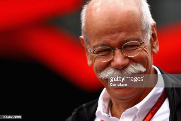 Head of Mercedes Cars Dieter Zetsche walks in the Paddock before the Formula One Grand Prix of Germany at Hockenheimring on July 22 2018 in...