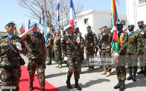 Head of Mission and Force Commander of the United Nations Interim Force in Lebanon Major General Michael Beary of Ireland attends the UNIFLIS's 40th...