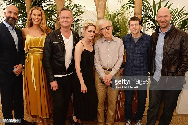 Head of Motion Pictures Jason Ropell, Blake Lively, Roy Price, Kristen Stewart, director Woody Allen, Jesse Eisenberg and Corey Stoll attend the...