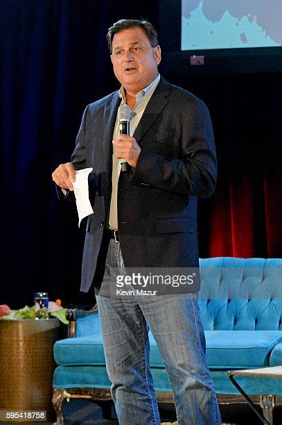 Head of North America Branded Cards at Citigroup Ralph Andretta speaks onstage during Backstage with Citi DNCE at the Citigroup Building on August 29...