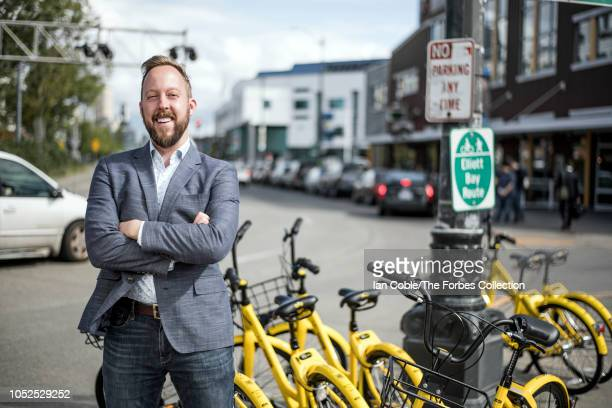 Head of Ofo's business in the US Christopher Nakutis Taylor is photographed for Forbes Magazine on May 9 2018 in Seattle Washington PUBLISHED IMAGE...