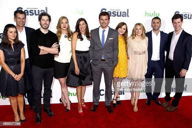 Head of Originals at Hulu Beatrice Springborn CEO of Hulu Mike Hopkins director Jason Reitman producer Helen Estabrook actors Michaela Watkins Tommy...