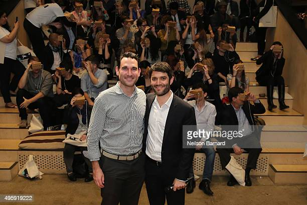 Head of Partnerships Google Cardboard Aaron Luber and Editor of The New York Times Magazine Jake Silverstein attend The New York Times's NYTVR...
