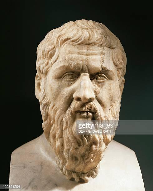 Head of Plato Greek philosopher marble