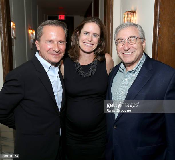 Head of Public Affairs at GLG Richard Socarides GLG Director Jennifer Field and President of Entertainment Media Ventures Sandy Climan attend GLG...