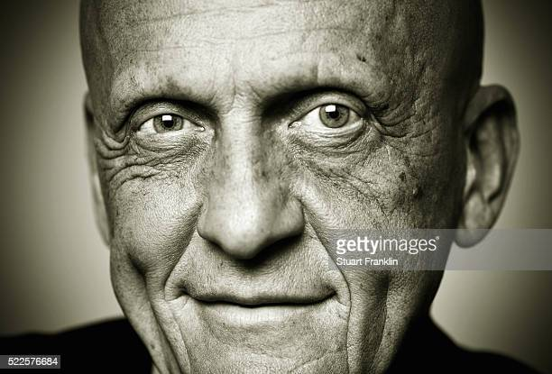 Head of referees for UEFA Pierluigi Collina poses for a photograph during an interview on March 8 2016 in Wolfsburg Germany