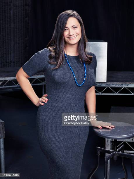 Head of scripted TV at the Weinstein Co Megan Spanjian is photographed for the Hollywood Reporter on October 18 2017 in Los Angeles California