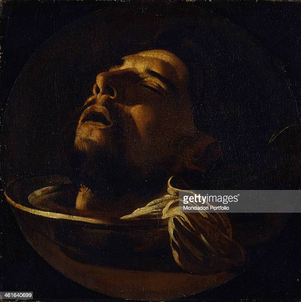 Head of St John the Baptist by Unknown Artist from Northern Italy 1600 1650 17th Century oil on canvas Italy Lombardy Milan Castello Sforzesco Civic...