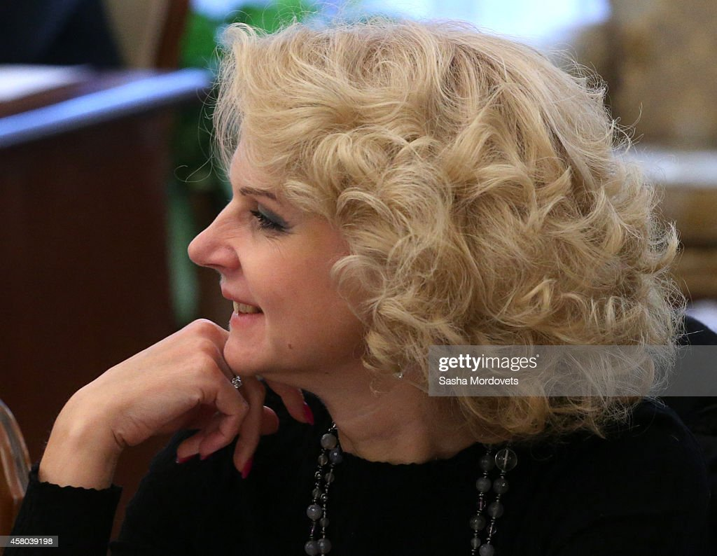 Head of the Account Chamber of Russia Tatyana Golikova attends a weekly meeting with ministers of the government at the Novo Ogaryovo state residence October 29, 2014 in Moscow Russia.