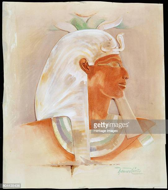 Head of the Ancient Egyptian Queen Makare Hatshepsut Hatshepsut reigned Egypt between 1479 and 1458 BC British archaeologist Howard Carter discovered...