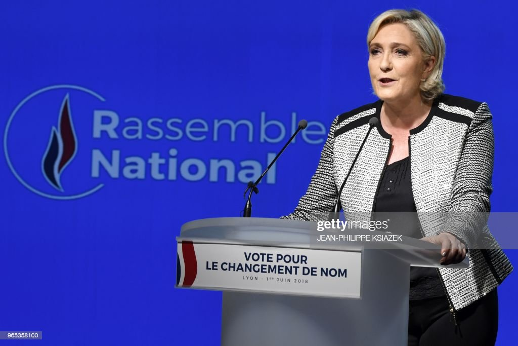 FRANCE-POLITICS-PARTIES-FAR RIGHT : News Photo