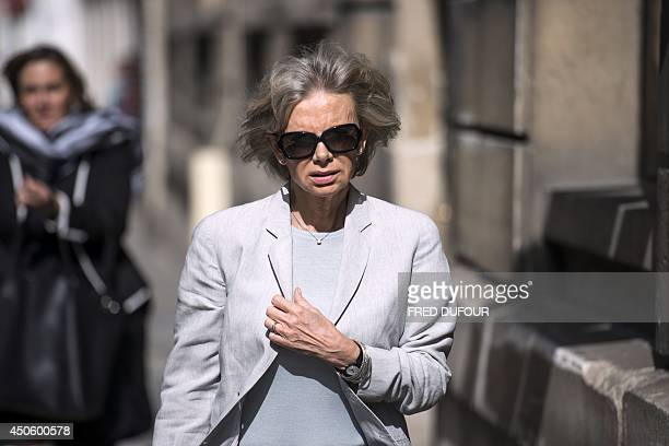 Head of the French National Assembly Foreign Affairs commitee and French former socialist minister Elisabeth Guigou arrives at the French Socialist...