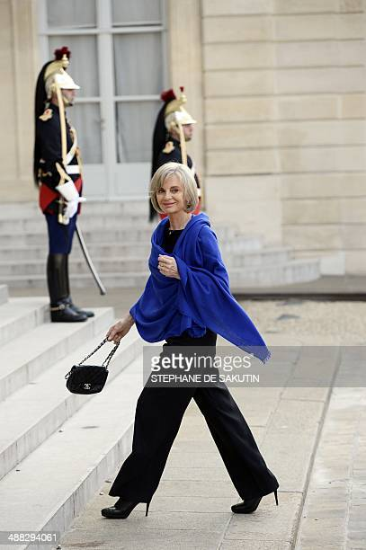 Head of the French national assembly Foreign Affairs commitee and French former Justice Minister Elisabeth Guigou arrives at the Elysee palace to...