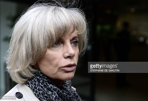 Head of the French national assembly Foreign Affairs commitee and French former Justice Minister Elisabeth Guigou arrives to attend a metting with...
