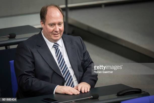 Head of the German Chancellery Helge Braun is pictured before the swearingin ceremony of the new federal government on March 14 2018 in Berlin...