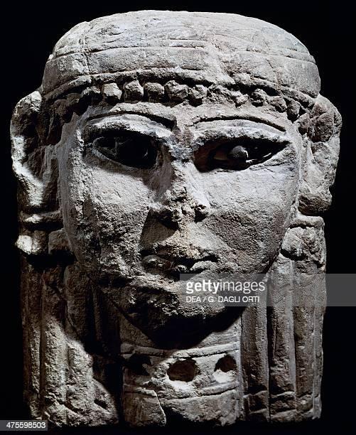 Head of the Goddess Istar ammonite sculpture from Amman Jordan Civilisation of the Ammonites 6th century BC Amman Archaeological Museum