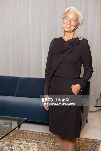 Head of the IMF Christine Lagarde is photographed at her office for Paris Match on November 19 2011 in Washington DC