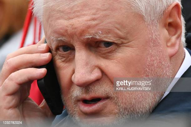 Head of the Just Russia party Sergei Mironov attends the Victory Day military parade at Red Square in Moscow on May 9, 2021. - Russia celebrates the...