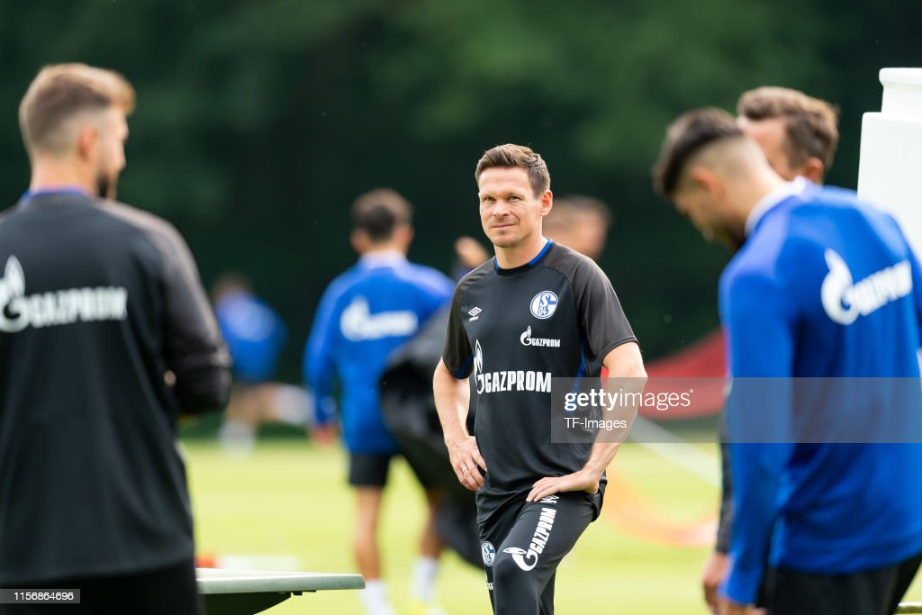 FC Schalke 04 Herzlake Training Camp : News Photo