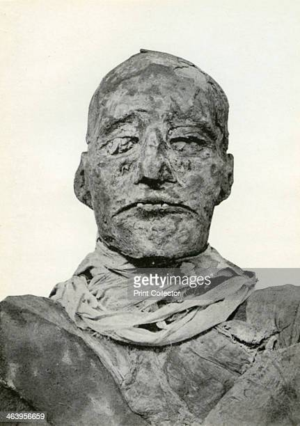 Head of the mummy of Rameses III, Ancient Egyptian pharaoh of the 20th Dynasty, c1156 BC . Rameses III ruled Egypt from 1187 until 1156 BC. He is...