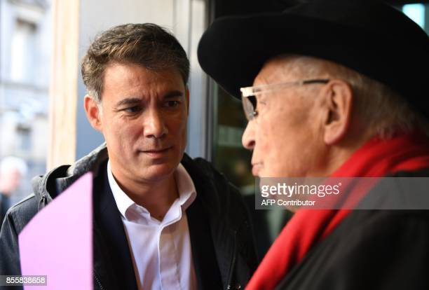 Head of the New Left group Olivier Faure arrives at the national council of the French Socialist Party to elect the party's new leadership at the...