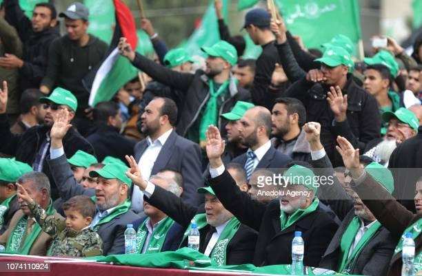 Head of the Political Bureau of Hamas Ismail Haniyeh Leader of Hamas in Gaza Strip Yahya Sinwar Vice President of the Palestinian Legislative Council...