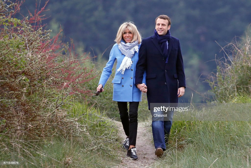 French Presidential Candidate Emmanuel Macron Visits Le Touquet