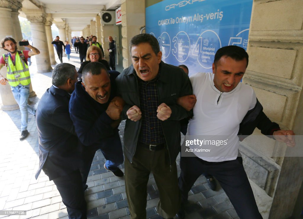 Anti-Government Protests In Baku Following Arrest Of Activists : News Photo