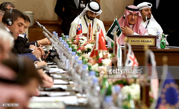 Head of the Saudi delegation Abdilmajeed alBabtain attends the meeting of the counterISIL finance group which was formed early last year and is led...