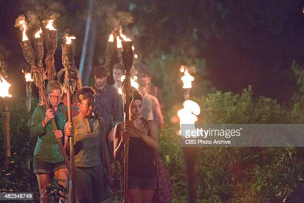 Head of the Snake Morgan McLeod and the rest of the newly merged tribe head to Tribal Council during the sixth episode of SURVIVOR CAGAYAN Wednesday...
