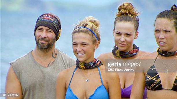 Head of the Snake Tony Vlachos Jefra Bland Morgan McLeod and Sarah Lacina during the sixth episode of SURVIVOR CAGAYAN Wednesday April 2 on the CBS...