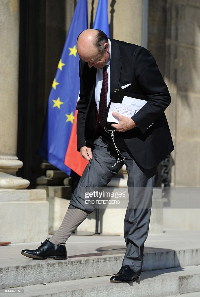 Head of the social affairs commission of the French senate Alain Vasselle arrives at the Elysee Palace on May 20, 2010 in Paris to attend a second meeting on public deficit with French President Nicolas Sarkozy. France reopened its 2010 budget to add in the 111 billion euros it has promised to contribute to Europe's new 750-billion-euro emergency stability fund, Finance Minister Christine Lagarde said yesterday.