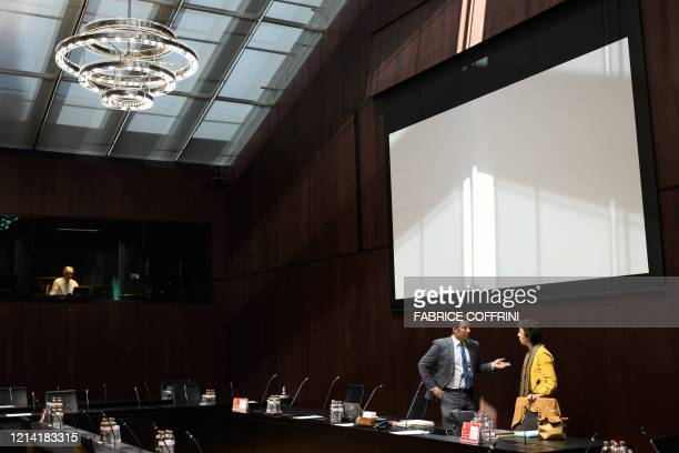 Head of the Swiss Parliamentary judicial committee Andrea Caroni is seen prior to the hearing of Switzerland's attorney general on May 20 2020 at the...