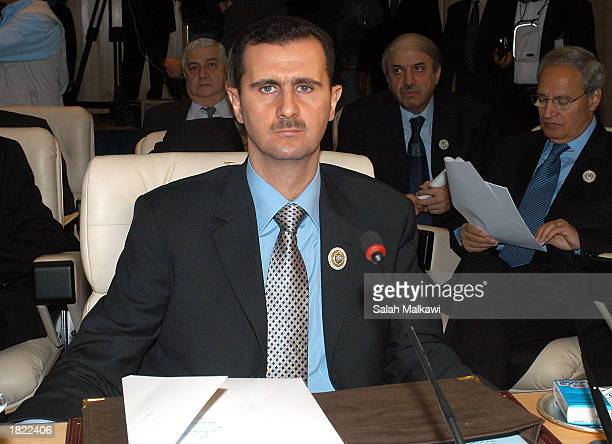 Head of the Syrian delegation President Bashar alAssad attends the Arab Summit March 1 2003 in Sharm elSheikh Egypt The United Arab Emirates has...
