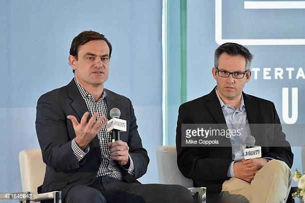 Head of Twitter Amplify Glenn Brown and CoEditorinChief for Variety Andrew Wallenstein speaks onstage at Variety's Entertainment and Technology...
