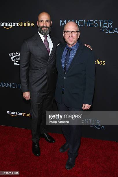 Head of Worldwide Film Amazon Studios Jason Ropell and Head of Motion Picture Procution Amazon Studios Bob Berney attend the premiere of Amazon...