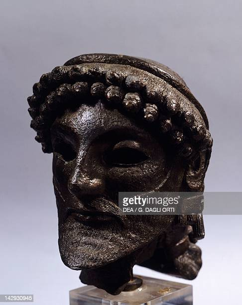 Head of Zeus bronze statue from Olympia Greek Civilization 6th Century BC Athens Ethnikó Arheologikó Moussío
