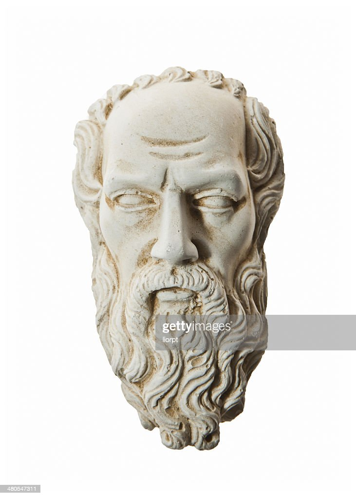 Head of Zeus sculpture : Stock Photo