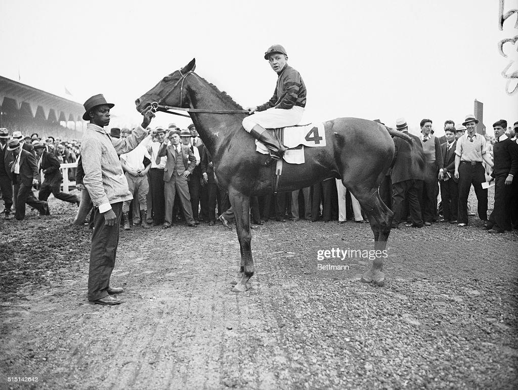 Charlie Kurtsinger Atop Winning Horse : News Photo