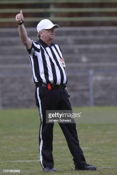 Head Referee Thomas Hofbauer during the Austrian Football League game between Rangers Moedling between Dacia Vikings at Stadion Moedling on March 27,...