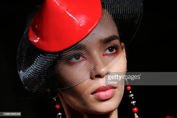 Head shot during the Giorgio Armani Prive Spring Summer 2019 show as part of Paris Fashion Week on January 22 2019 in Paris France
