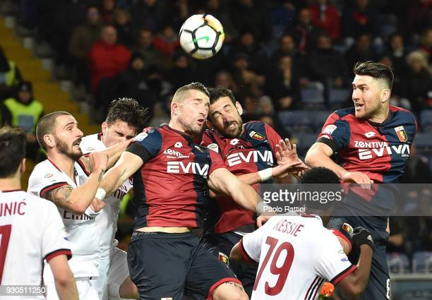 Head shot for Andrey Galabinov of Genoa during the serie A match between Genoa CFC and AC Milan at Stadio Luigi Ferraris on March 11 2018 in Genoa...